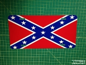 Confederate flag license plate.