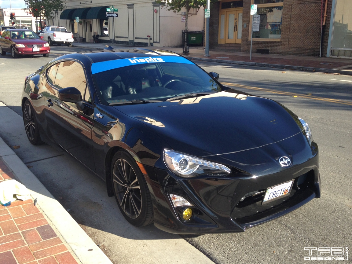 vinyl windshield banner fits subaru brz all  many colors