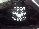 "TCCA 3"" x 3"" Chapter Decals - 2 Vinyl Stickers - Many Colors"