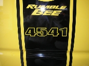 Build Number Decals - fits Over Dodge Rumble Bee Stripes