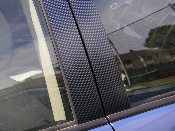 Carbon Fiber Door Pillar Decals- 2004-2008 Toyota Prius 04-08