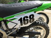 Number Decal - Many Sizes / Colors - Dirt Bike, Race Car, BMX
