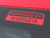 Powered by K20Z3 Decal -1 Color 2006-2011 FA5 FG2 / Motor Swap
