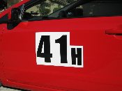 Autocross Racing Magnetic Numbers (x2) Track Day Number