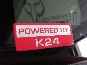 Powered by K24 Decal - K Series Motor / Swap JDM Vinyl Decal