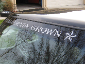 California Grown Windshield Decal- Nor Cal, Cali, So Cal Sticker