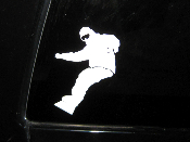 Snowboard Decal- Snowboarder Carving Sticker - Many Sizes Colors