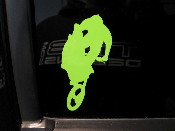 Dirt Bike Rider Air Decal - Your choice of size and color