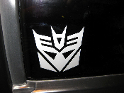 Transformers Decepticon Decal- Your choice of size and color