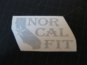 Nor Cal Fit Decal w/ State- Many Colors / Sizes Norcal Honda Fit