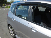3M Carbon Fiber Door Pillar Decals 2007-2008 Honda Fit GD3 07-08