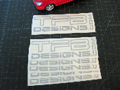 TFB Designs Decal - 6 Inches Wide / Many Colors - Vinyl Sticker