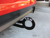 Two Vinyl TOW Decals- fits Universal Rear Tow Hook Many Colors