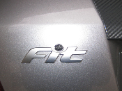 Dot Overlay for 07-08 Honda Fit GD3 Rear Emblem -CF or Red