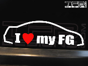 I love my Honda Civic FG coupe decal