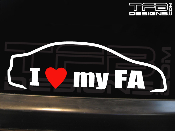 I love my Honda Civic FA 4 door sedan decal