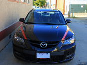 Headlight eyelids for the 2004-2009 Mazda 3 by TFB Designs.