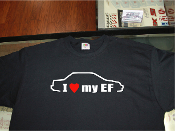 I love my honda civic EF sedan shirt