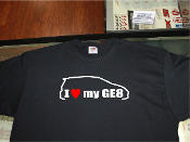 i love my honda Fit GE8 shirt