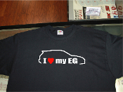 I love my honda civic EG shirt