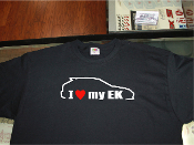 I love my honda civic EK shirt