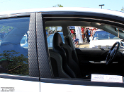 Carbon Fiber Door Pillar Overlays 2006 Mitsubishi EVO 9 IX 06