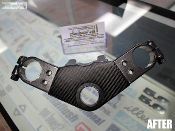 kawasaki ninja 250 triple clamp carbon fiber cover ex250