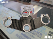 Carbon fiber triple clamp decal for the Yamaha FZR600R.
