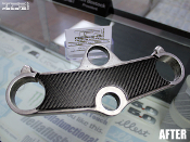 Carbon fiber triple clamp decal for the 1997-2000 Suzuki GSXR 600 and 750.