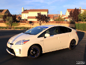 2012 Toyota Prius custom wheels, stripes and decals.