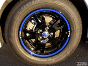 Toyota Prius Rim Lip Decals Wheels Custom Blue White