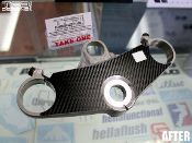 Carbon fiber triple clamp decal for the 1993-1995 Honda CBR 900RR motorcycle.