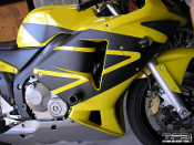 Full wing graphics kit for the 2003-2004 Honda CBR600RR.