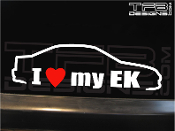 I love my Honda Civic EK coupe decal by TFB Designs.