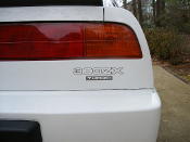Nissan 300zx turbo rear trunk decal.
