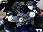 Carbon fiber triple clamp decal for the 2005-2006 Suzuki GSXR 1000.