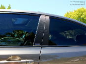Carbon fiber door pillar decals for the 2006-2011 Honda Civic.