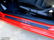 Carbon fiber door sill decals for the 2006-2011 Honda Civic coupe.
