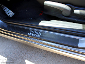 Carbon fiber door sill decals for the 2006-2011 Honda Civic sedan.