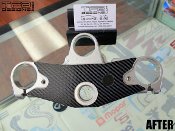 Carbon fiber triple clamp decal for the Yamaha YZF600R.