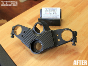 kawasaki ninja 500 triple clamp carbon fiber cover ex500