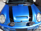 Hood and trunk stripes for the Mini Cooper.