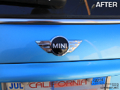 Mini Cooper emblem decals