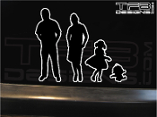 Family silhouette vinyl decals