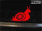 Turbo snail vinyl decal