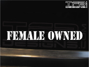 Female owned vinyl decal by TFB Designs.