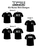 ICU Nurse Short Sleeve Professional T Shirt - Many Options!