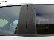 Carbon fiber door pillar decals for the Ford Raptor crew cab.