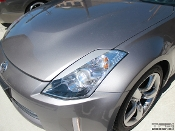 Headlight eyelids for the 2003-2008 Nissan 350Z.
