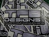 TFB Designs diamond plate vinyl decal.